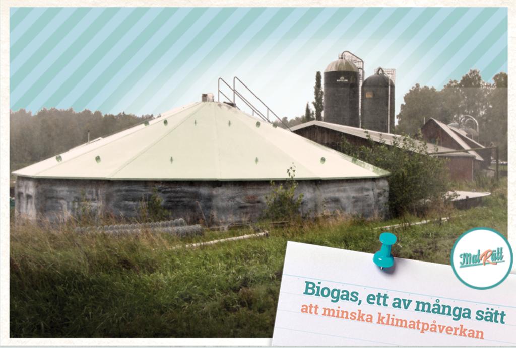 Biogas, ett av många sätt att minska klimatpåverkan